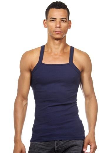 Dark Zone Slim Fit Askılı Atlet Lacivert
